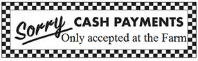 cash only accepted